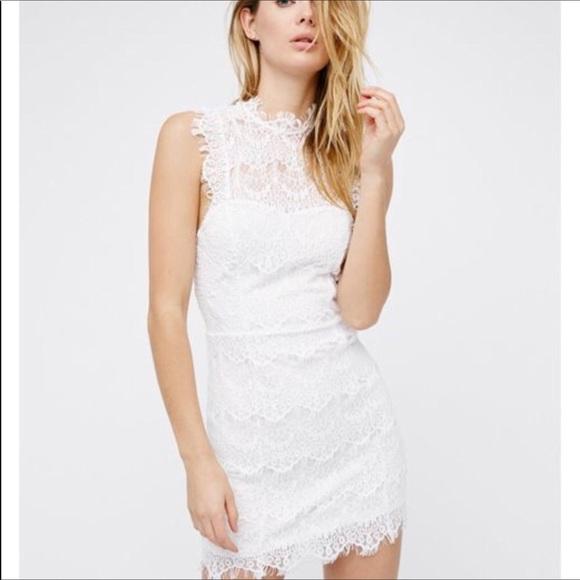 e1a131ed8c5 Free People White Daydream Body-con Lace Dress